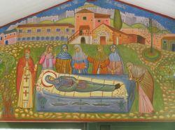 Η Κοίμησις της Αγίας Φιλοθέης (κοντινό πλάνο)