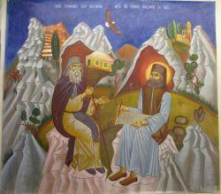 Ιερές συνομιλίες Αγίου Νεκταρίου με τον Γέροντα Παχώμιο στην Χίο